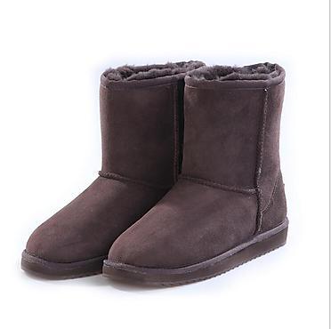 MfxKlx羊皮毛一�w雪地靴女中筒