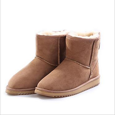 MfxKlx羊皮毛一�w雪地靴女短筒