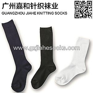 广东佛山袜子加工厂长筒白色袜 跳舞袜
