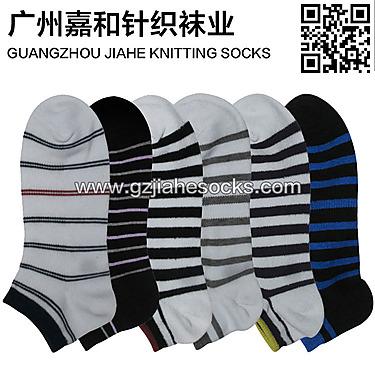 广东佛山针织厂纯棉短筒袜 低帮船袜