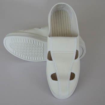 无尘鞋,防静电PVC革面四眼鞋,防静电四孔鞋