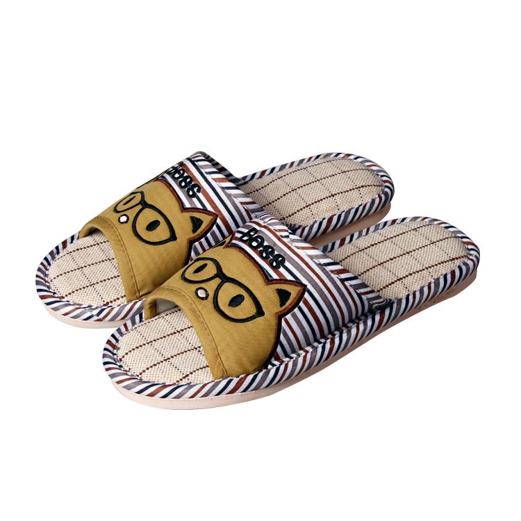 供应防滑透气型亚麻拖鞋