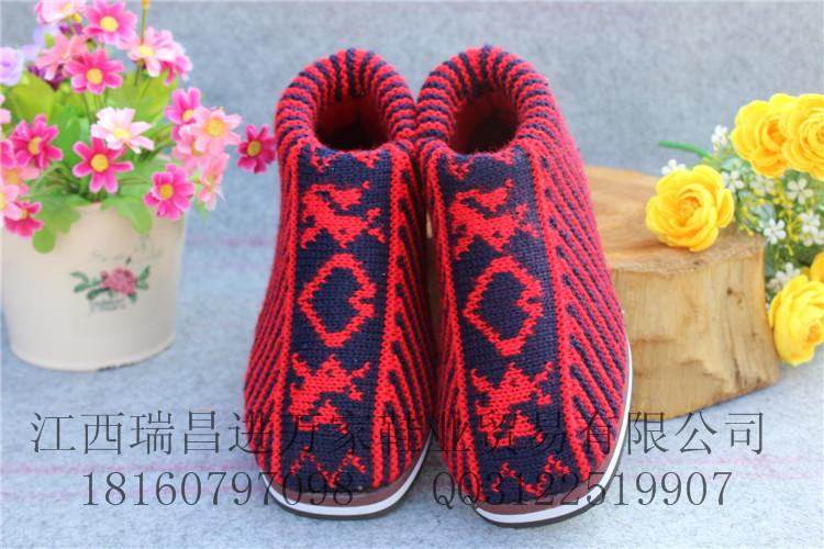 北京鞋类批发商圈江苏的常熟招商城男女毛线鞋保暖鞋批发厂家