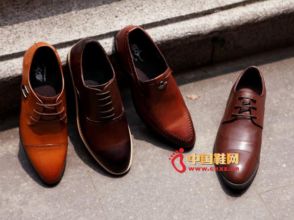 sevenkangaroo(斯凯瑞)系带尖头男士正装皮鞋5320