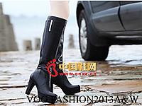 沃格秋冬女鞋系列 时尚高帮长靴