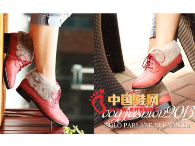 沃格秋冬女鞋系列 时尚毛绒休闲女鞋