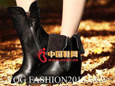 沃格秋冬女鞋系列 时尚拉链短靴