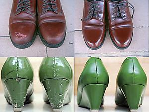 唯尊皮具护理皮鞋护理前后对比