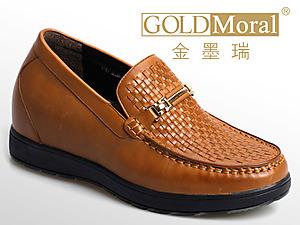 金墨瑞2014?#21512;?#30007;士皮鞋内增高新款上市