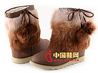 大东女鞋专柜正品冬季新款女鞋短靴子平底雪地靴棉鞋