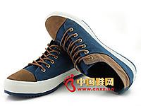 唐福轩老北京布鞋T062-692蓝 复古帆布男鞋