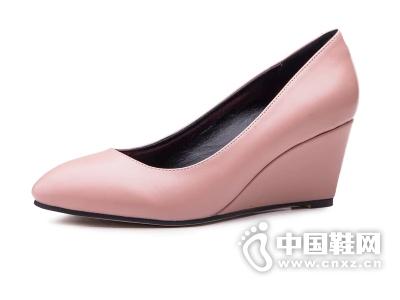 如熙2015春夏新款鞋子尖头坡跟高跟优雅女鞋韩版时尚女单鞋