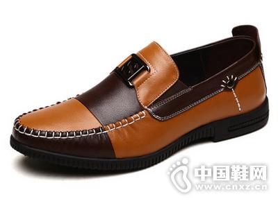 法顿男鞋夏季新品男士商务休闲鞋英伦透气潮流真皮套脚乐福鞋子