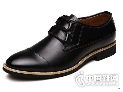 法顿男鞋 夏季男士商务正装皮鞋 男真皮尖头英伦系带透气婚鞋子男