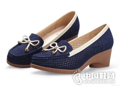 曼仙妮2015夏季新款女鞋粗跟单鞋镂空清凉中跟鞋休闲女鞋