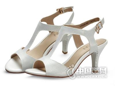 2015新款夏季女鞋卓之雅秀曼仙妮格专柜正品森琦贝尔碲铂平跟凉鞋