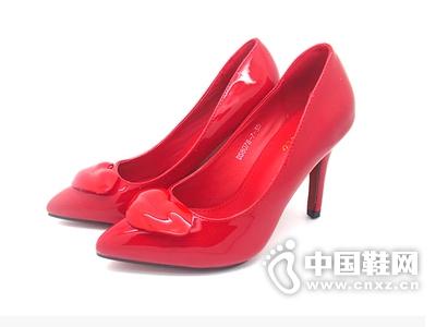 雨薇露露新款正品甜美时尚女鞋韩版高跟细跟单鞋红唇婚鞋