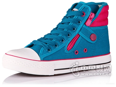 好啦正品 高帮帆布鞋女韩版潮鞋休闲鞋板鞋学生鞋女鞋