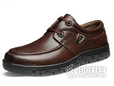 奥古仕盾春季新款大底耐磨欧美风真皮男系带休闲皮鞋