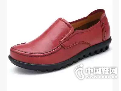 金靴世家新款英伦韩版休闲鞋真皮平底鞋日常时尚流行女鞋