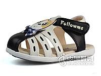 富罗迷童鞋2015新款男婴童宝宝牛筋底学步包头儿童男鞋