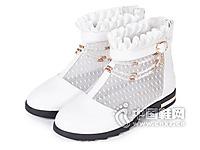 富罗迷童鞋正品儿童皮鞋女童春夏短靴