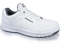 亚礼得白灰男网球鞋