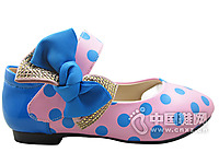 酷奇童鞋女童皮鞋 2015真皮蝴蝶�Y�涡�