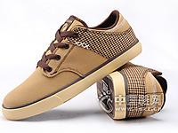 足下登 新款帆布鞋男鞋子韩版休闲板鞋布鞋英伦风拼色低帮鞋