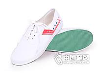 一步赢新款布胶鞋白色