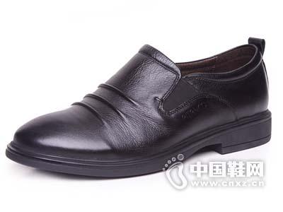 必登高2015男鞋男士英伦流行正品真皮商务休闲圆头套脚中年爸爸皮鞋