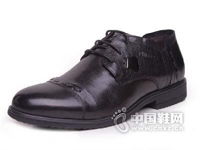 必登高正装皮鞋男款 2015新款系带真皮流行商务低帮男鞋