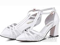 香阁儿女鞋2016新款中空凉鞋
