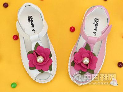 斯纳菲真皮童鞋2016新款凉鞋