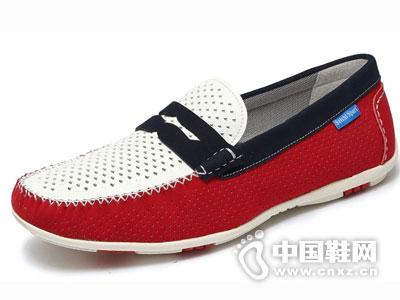 沙驰男鞋201英伦时尚豆豆鞋新款