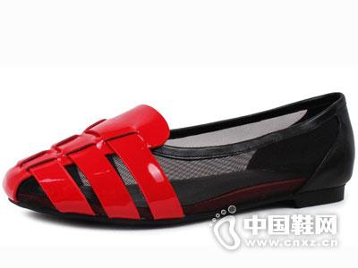艾熙女鞋2016单鞋坡跟新款