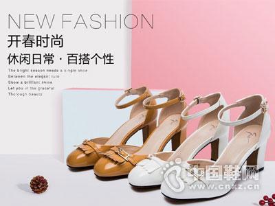 展风时尚女鞋2016韩版浅口中跟单鞋