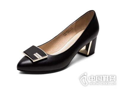 comely/康莉新款粗跟尖头单鞋