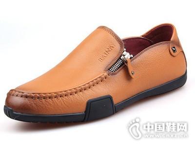 Ba!Na/佰纳2016真皮套脚舒适休闲男鞋