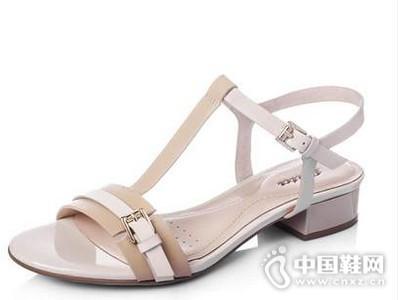 BATA/拔佳2016羊皮/漆牛皮丁字式扣带女凉鞋