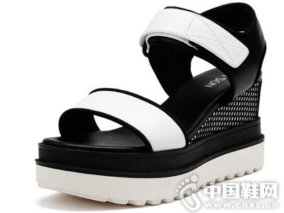百田森女鞋2016夏季凉鞋新款