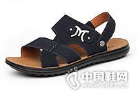 CARTELO/卡帝乐鳄鱼真皮沙滩鞋男士两用防滑凉鞋日常休闲鞋