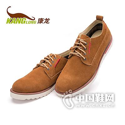 康龙男士真皮休闲鞋反绒皮低帮男鞋英伦潮流伐木鞋
