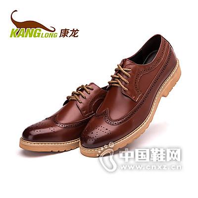 康龙布洛克皮鞋 男士英伦雕花复古真皮男鞋