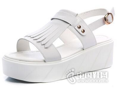 印心鸟2016夏季新款厚底松糕凉鞋韩版坡跟防水台鞋子罗马流苏中跟女鞋