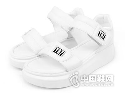 印心鸟2016夏季新款小白松糕鞋平底凉鞋韩版白色学生运动休闲鞋平跟女鞋