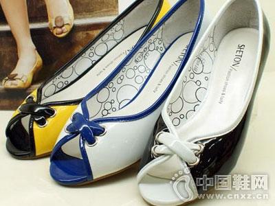 舒丹妮女鞋新款平底鱼嘴鞋