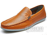 富贵鸟2016夏季新款镂空透气休闲鞋皮鞋男士真皮软底驾车鞋