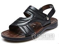 富贵鸟2016夏季凉鞋男沙滩鞋真皮透气休闲鞋男鞋