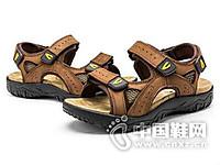 Camel Active/骆驼动感2016新款夏季休闲沙滩鞋头层牛皮凉鞋男